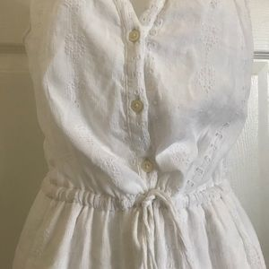 Gap white dress drawstring